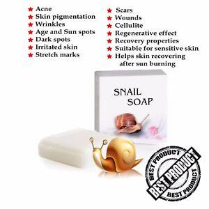 SNAIL SOAP - Anti Acne, Pigmentation, Wrinkles, Stretch Marks, Scar Removal 30g
