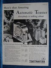 1928 Toastmaster Ad ~Unique One Slice Toaster-  Christmas Scene ~ Minneapolis
