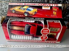 Vintage 80'S Fuel Injected Corvette Battery Operated Made In Hong Kong  Gas Up