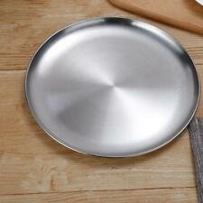 Stainless Steel Round Without Lid Serving Dish Platter Kitchen Buffet 26cm