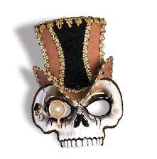 Halloween Steampunk Venetian Style Skull Mask Fancy Dress Skeleton Accessory