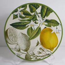 "Williams Sonoma Botanical Citrus Fruit Green 1 Salad Plate Lemon 9"" NWOT 481728"