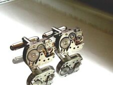 Steampunk Cufflinks clock vintage watch movements industrial jewellery Mens
