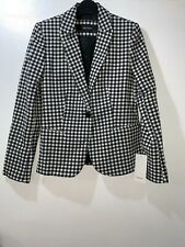 dea48a11 Zara Black/white Gingham Check Blazer Jacket Size L Ref 7981/748 Ss18