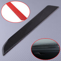 A For Audi A4 B8 Carbon Fiber Interior Co-pilot Console Panel Decal Cover Trim