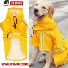 Dog Raincoat Waterproof Outdoor pet Doggie Rain Coat Rainwear Clothes M-Xxxxxl