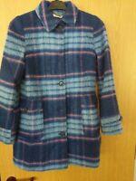 Cath kidston Wool Woman's Blue Coat Size 8 RefA21