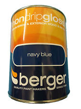 Berger Non Drip Gloss For Interior/Exterior - Wood/Metal Navy Blue Paint