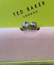 Ted Baker New Crystal Bobble Pink Leather Large Matinee Purse & Gift Box