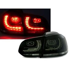 2 FEUX ARRIERE LED VW GOLF 6 BERLINE 10/2008 A 10/2012 NOIR FUME LOOK GTI R