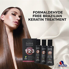 BRAZILIAN KERATIN TREATMENT KIT -FORMALDEHYDE FREE- BLOW DRY HAIR STRAIGHTENING
