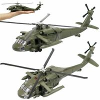 1:64 Alloy Diecast Black Hawk Armed Helicopter Military Fighter Model Chopper