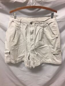 Bill Blass Jeans Khaki Cargo Shorts Womens Sz 16