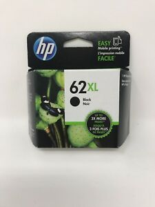 NEW Genuine HP 62XL Black Ink Cartridge C2P05AN High Yield OEM Exp. 2021-2022