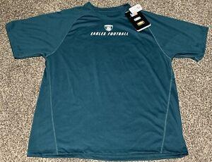 NWT NFL Equipment Philadelphia Eagles Football Play Dry Tee Shirt Large Green
