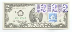 First Day Issue 1976 $2 Federal Reserve Note - Stamped! *069