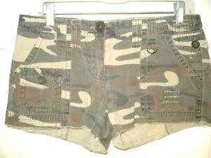 Charlotte Russe Womens Mini Shorts Size 7 Camo Cotton