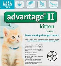 Advantage II For Kittens 1-5 lbs, 4 Pack TEAL