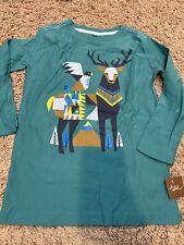 Tea Collection Boys Scandinavian Deer Shirt Size 12 NWT