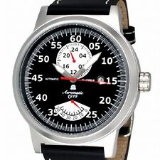 Retro-Design Uhr PILOT 24H+Powerreserve Anzeige A1358