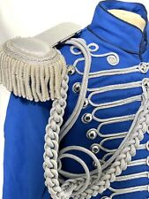 "Genral's Ceremonials Hussar Blue/Silver OfficerJacket 42""/M & 44""/L,46""/XL"
