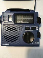 Grundig FR200 Emergency AM FM Shortwave Radio Hand Crank or Battery Blue/Purple