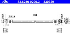 Bremsschlauch - ATE 83.6240-0200.3