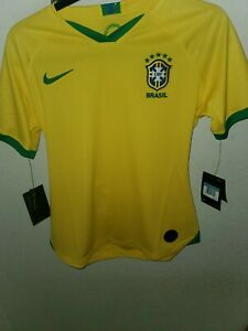 Nike Brasil Women's Home Jersey - Yellow MSRP $90, Size M