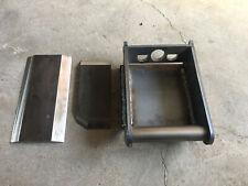 Schürfleiste aus HB500 700 x 150 x 16 mm Schneidkante Messerstahl Scheide