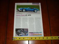 2007 LUCRA CARS LC 470 SPORTS / MUSCLE CAR - ORIGINAL ARTICLE