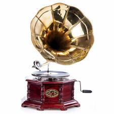 Trichtergrammophon His Masters Voice Tischgrammophon Gramophone Plaqué Antique
