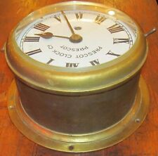 Antique Prescot Bulkhead Marine Clock ~ Maritime / Nautical