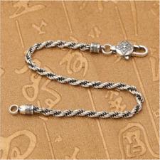 Unisex Vintage 925 Sterling Silver Buddhism Vajra Dorje Bracelet A2024