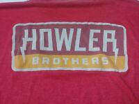 Howler Bros Brothers Mens T Shirt Size 2XL XXL Red Short Sleeve Crewneck