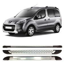 PEUGEOT PARTNER TEPEE ALUMINIUM SIDE STEPS RUNNING BOARDS 2008 ONWARDS