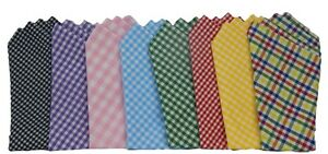 POCKET SQUARE...Gingham/Cotton...Venetian Collection