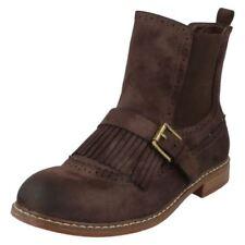 Botas de mujer planos textil de color principal marrón