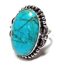 Handmade Jewelry Ring Jj-2008 Turquoise Gemstone 925 Silver