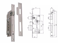 Serratura per portoncino profilo cilindro europeo - Entrata 50 - bordo quadro