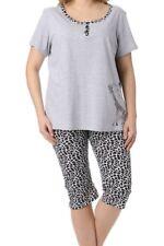 pyjacourt pyjama été imprimé girafe - gris/noir - taille 46 - neuf