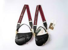 Womens  Real Leather Saddle Shoulder Bag with a Studded Strap Fashion