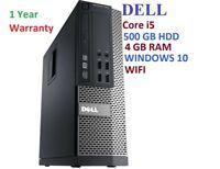 Windows 10 Intel i5 Desktop DELL Optiplex 790 / 990 4GB RAM 500GB HDD COMPUTER