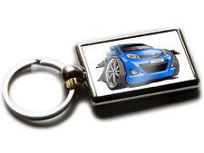 TOYOTA YARIS Hatch Back Car Koolart Chrome Keyring Picture Both Sides