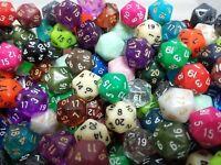 (5) Wiz Dice D20 Random Color Polyhedral Dice Set, 20 Sided Lot Game D&D RPG