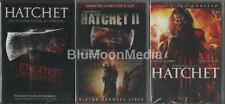 Hatchet 1 2 3 DVD Trilogy Collection Unrated Director's Cuts 3 movie set NEW