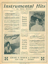1909 Sheet Music Cover Instrumental Hits by Neil Moret Mary & Evangeline 092416