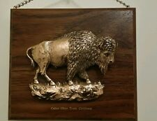 "CALICO GHOST TOWN, CALIFORNIA  3-D Buffalo Plaque Copper 8"" x 9"" with chain"