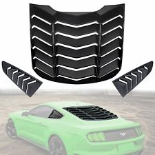 Rear Window Louvers Quarter Side Window Scoop Louvers For Ford Mustang 2015-2018