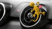 Genuine Audi Fragrance Yellow Gecko Air Freshener Dispenser Aromatic Scent fresh