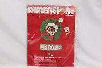 Dimensions Xmas Plastic Canvas 9033 Welcome Door Knob Hanger 1982